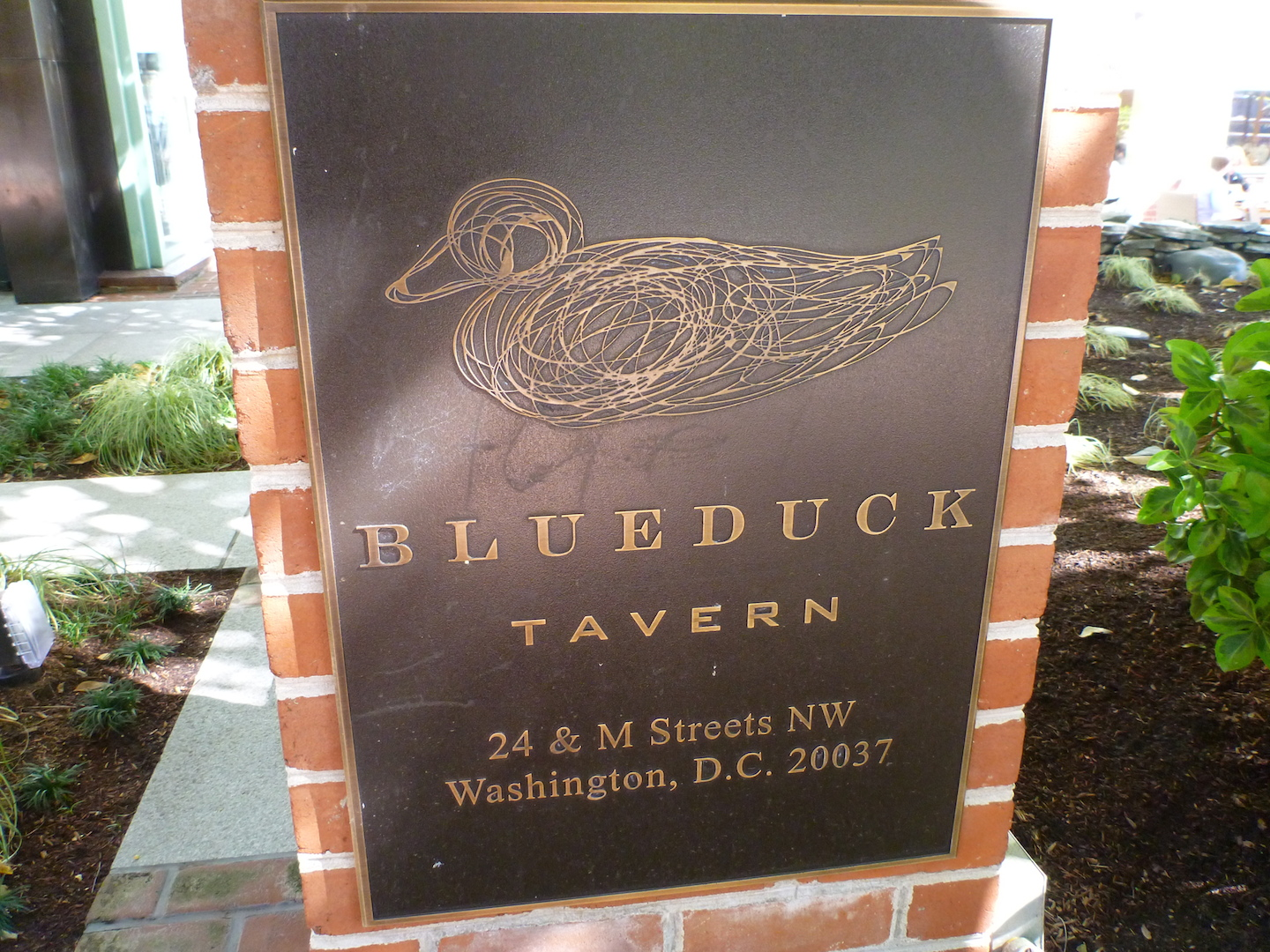 Blue Duck Tavern 看板
