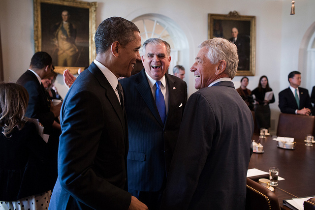 オバマ大統領とヘーゲル長官