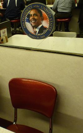 オバマ次期大統領が座った席