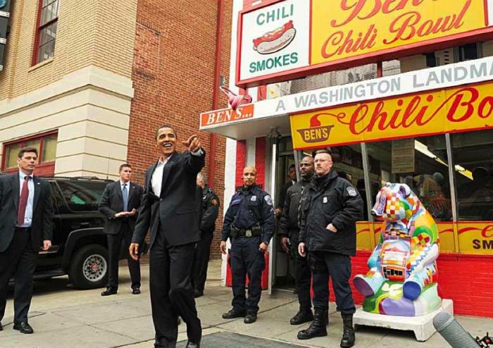 ベンズチリボールを訪れたオバマ大統領