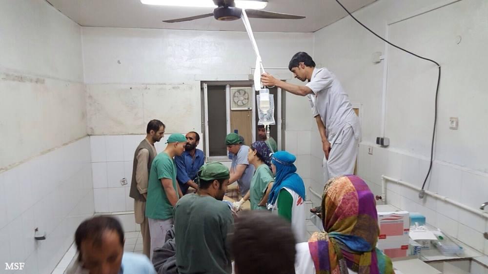 アフガニスタンの病院内