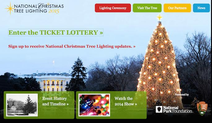 クリスマスツリー点灯式への申し込み