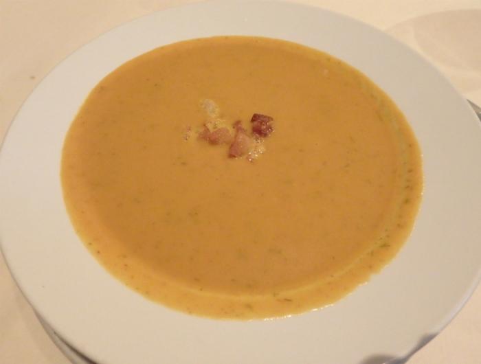 La Fermeのカボチャのスープ