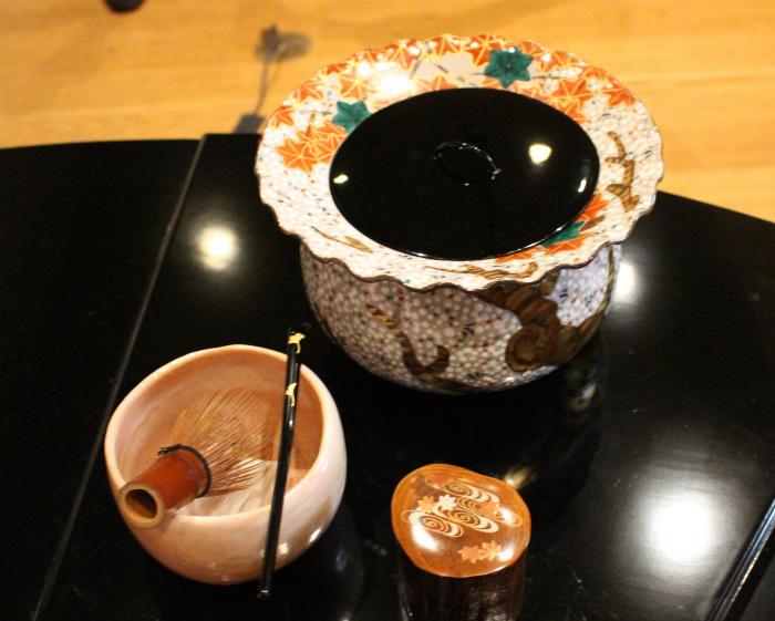 使われた茶道具