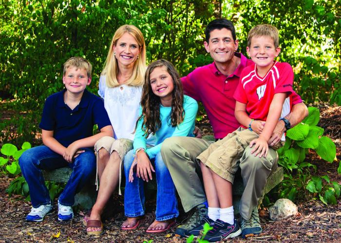 ポールライアン氏と家族