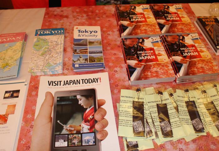日本観光局のブースも
