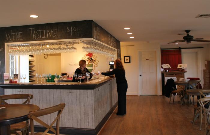 Greenhill Wineryのテイスティングルーム