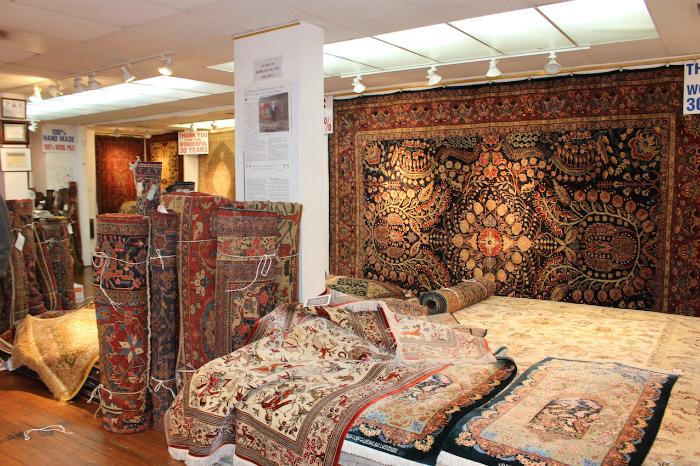 ミドルバーグにある絨毯の店