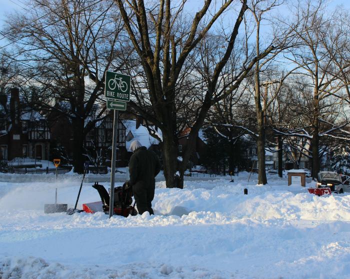 除雪作業で大騒ぎ
