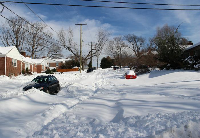 除雪車がまだ来てない道路もいっぱい