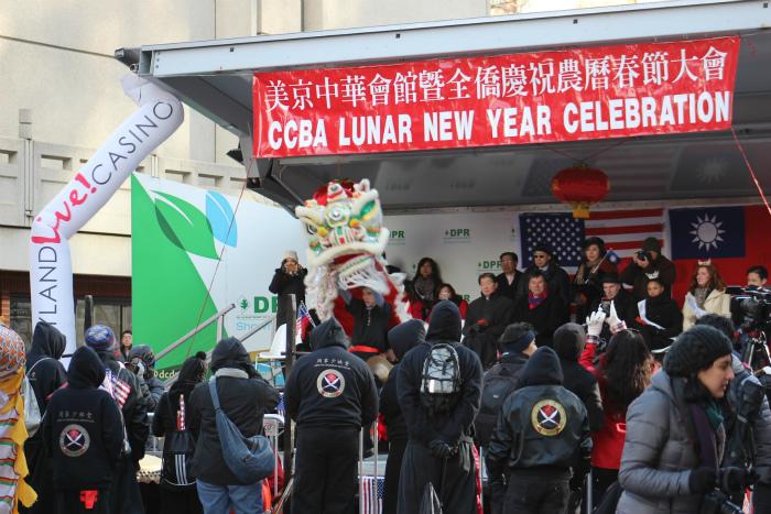 チャイナタウンの新年祭り